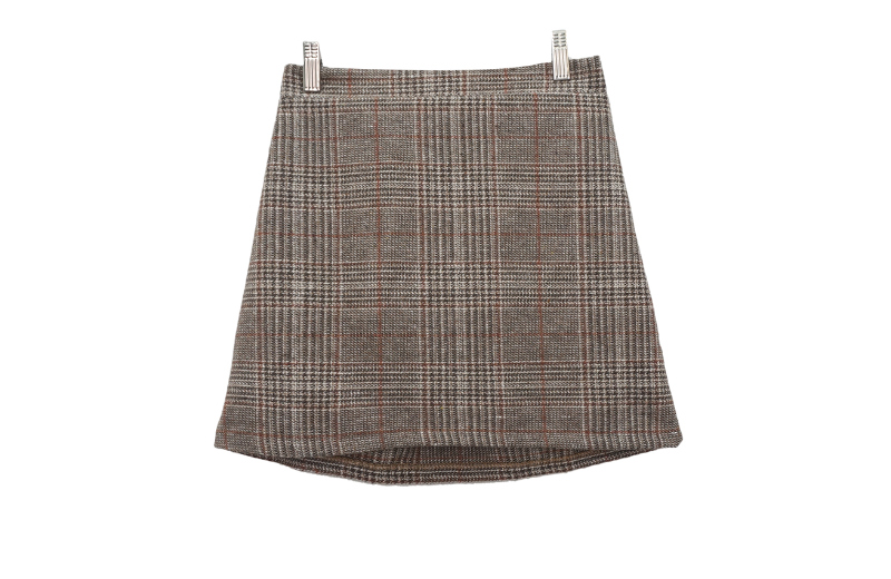 Andy check skirt