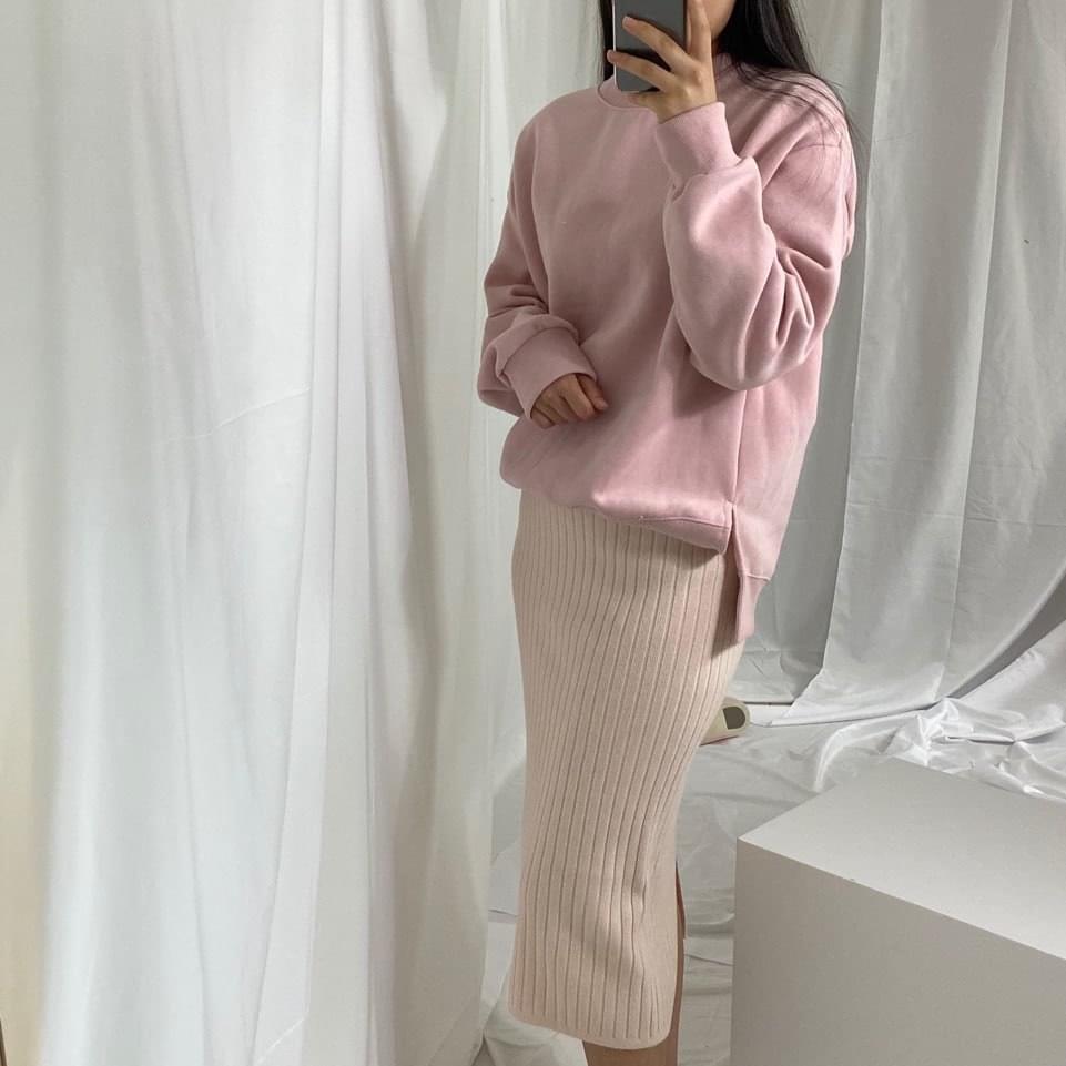 Ribbed knit skirt スカート