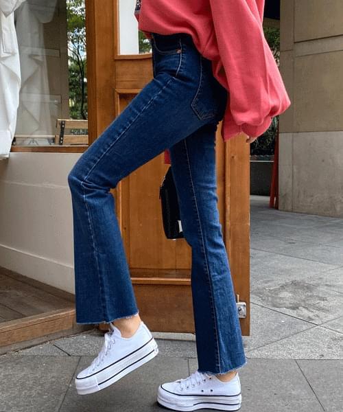 Noah Dark Blue Flared jeans