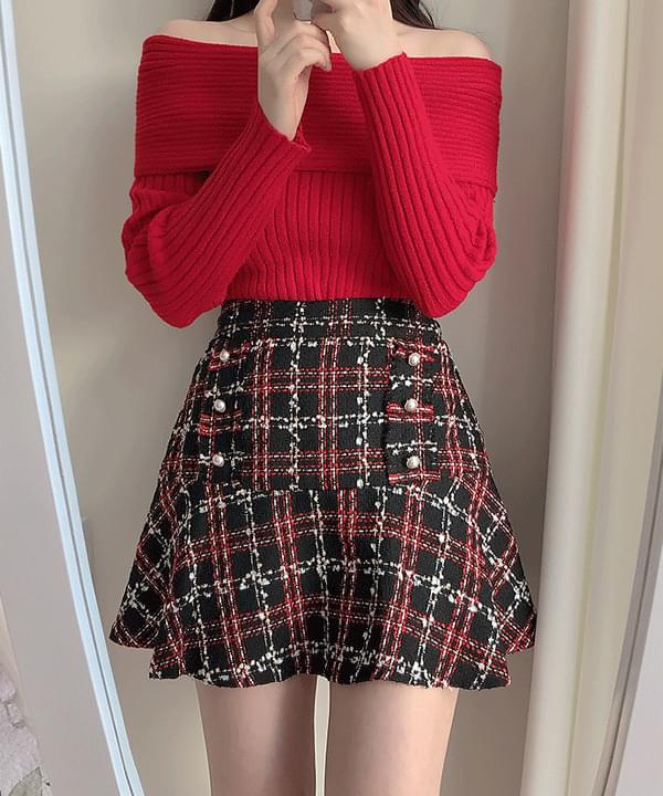 Fanny tweed skirt pants