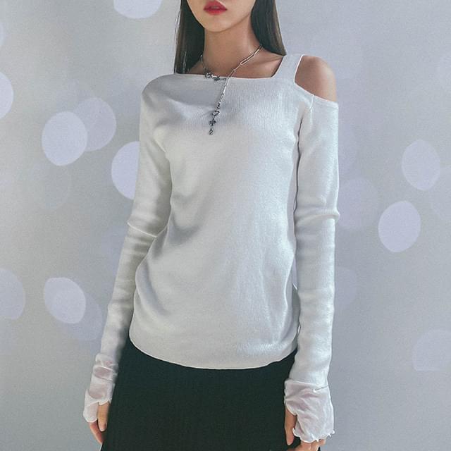 Shoulder sound split knit