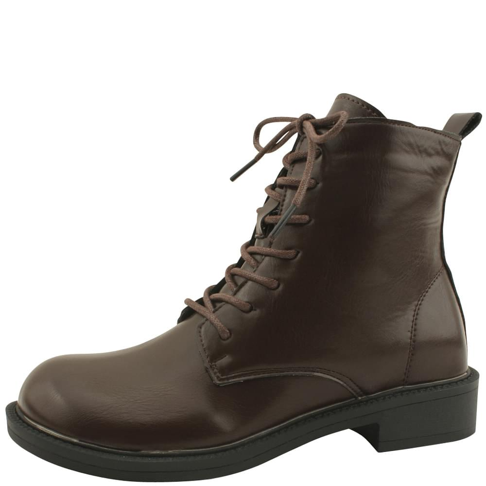 Classic Flat Walker Ankle Boots Brown