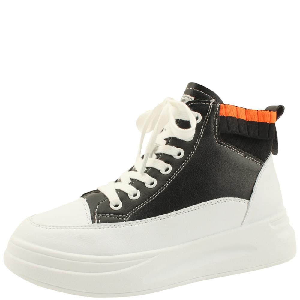 Knitted shibori high-top sneakers black