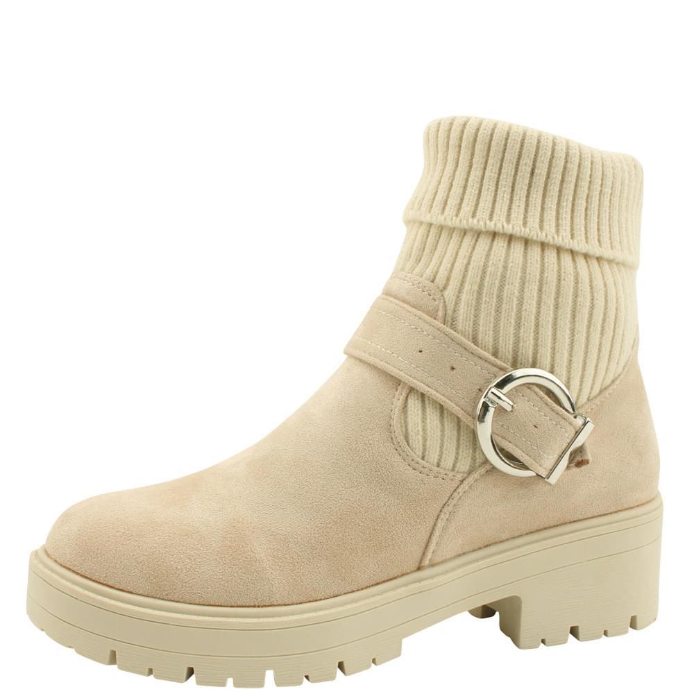 Knit Casual Flatwalker Boot Beige