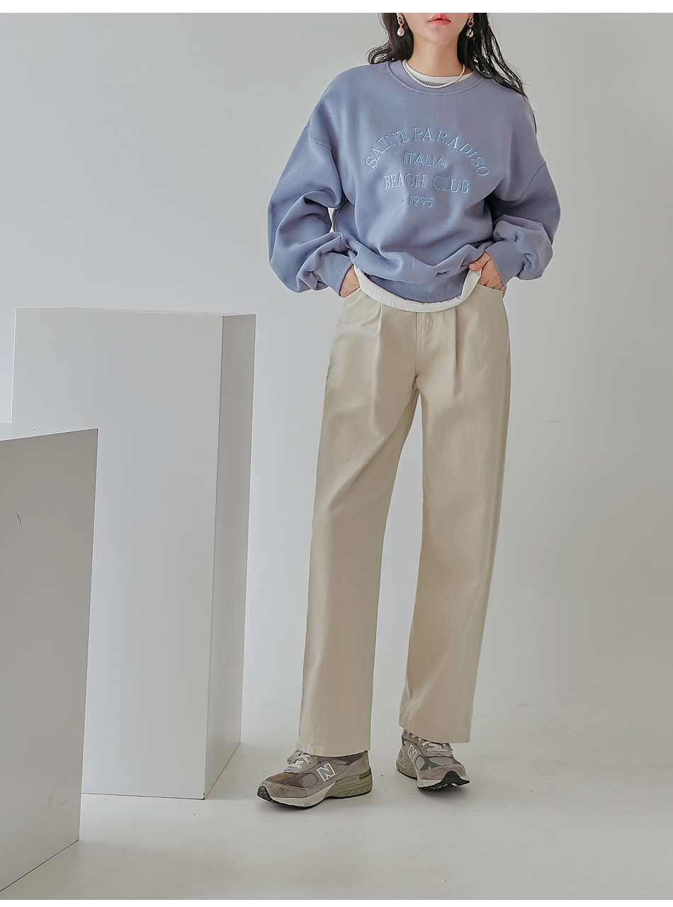 TOPA PINTUCK COTTON PANTS