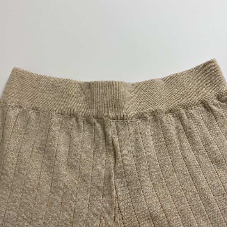 Ribbed wide-knit trousers