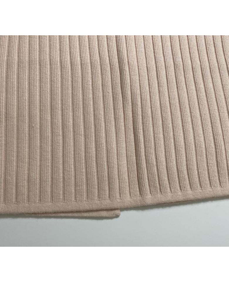 Ribbed knit skirt