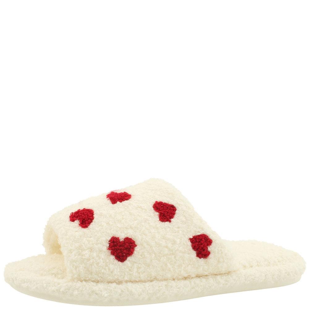 Lovely fur slippers toe-open slippers