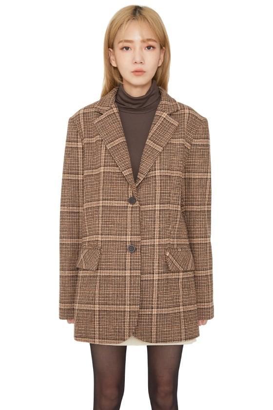 Brim Wool Check Casual Jacket ジャケット