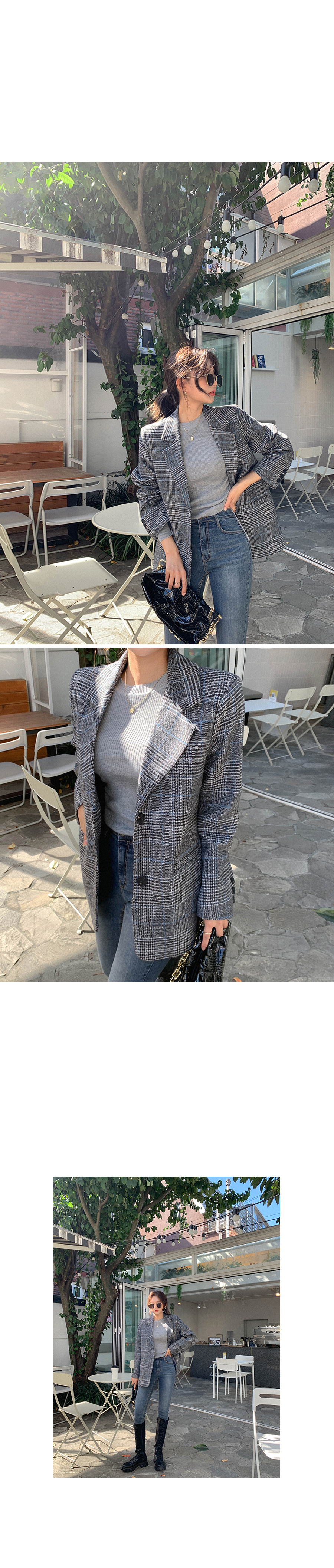 Winter Ready Check Wool Pad Jacket