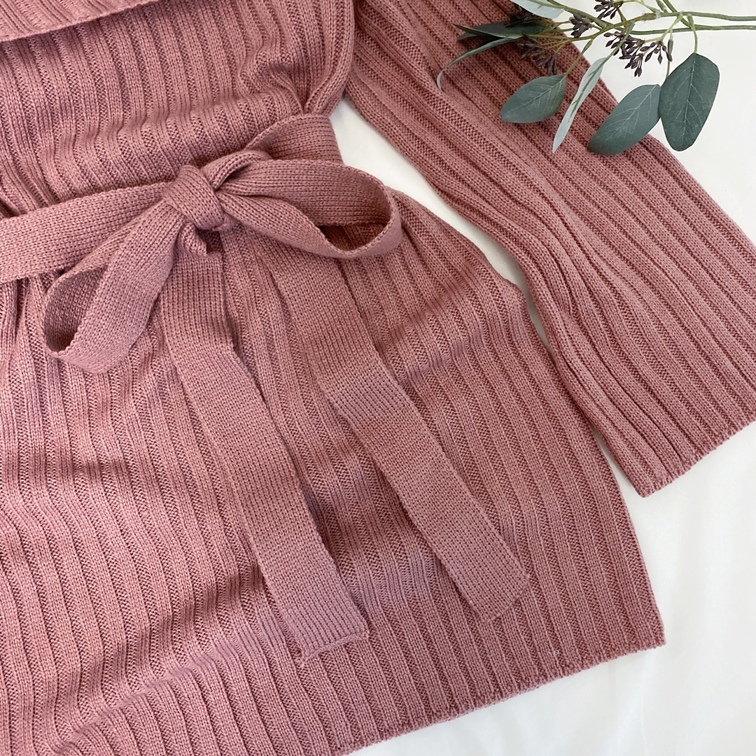 Tulip Off Shoulder Knit Dress