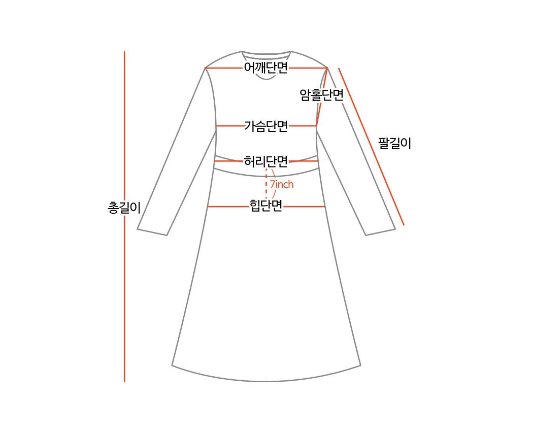 Rose string wrap dress
