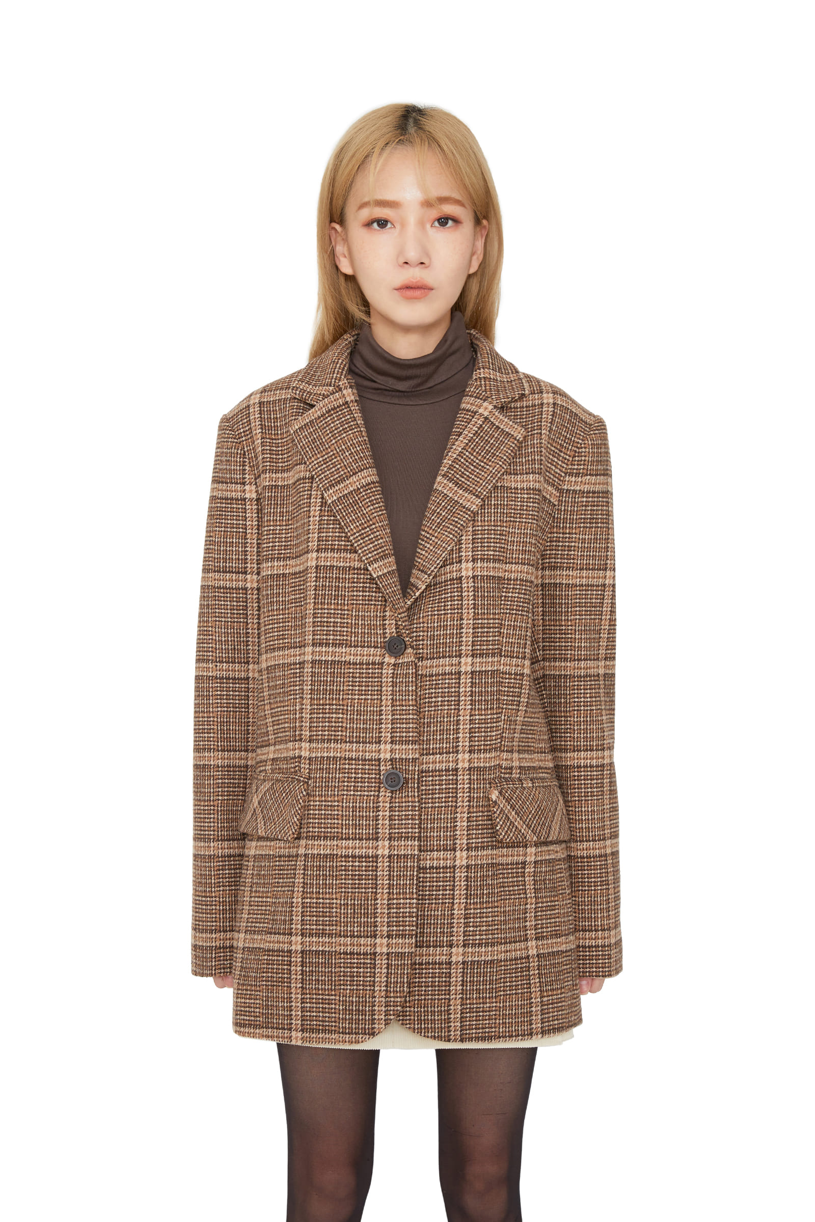 Brim Wool Check Casual Jacket