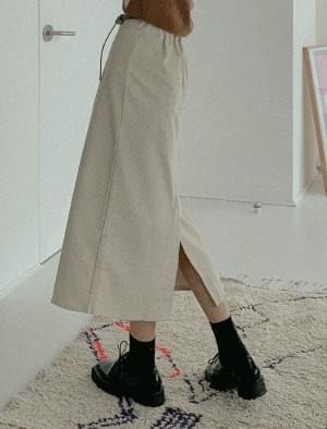 Croc H-line corduroy skirt