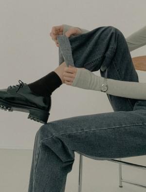 Ed wide fit brushed denim pants