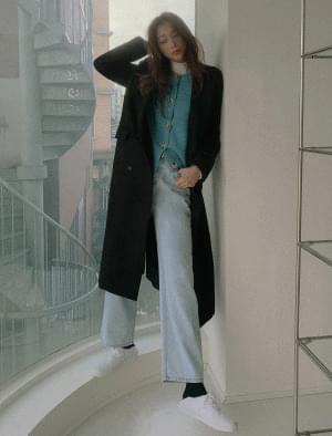 Mild Double Button Maxi Wool Coat