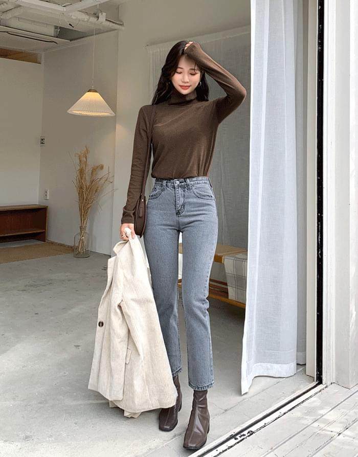 Muti Gray Slim Date 牛仔褲