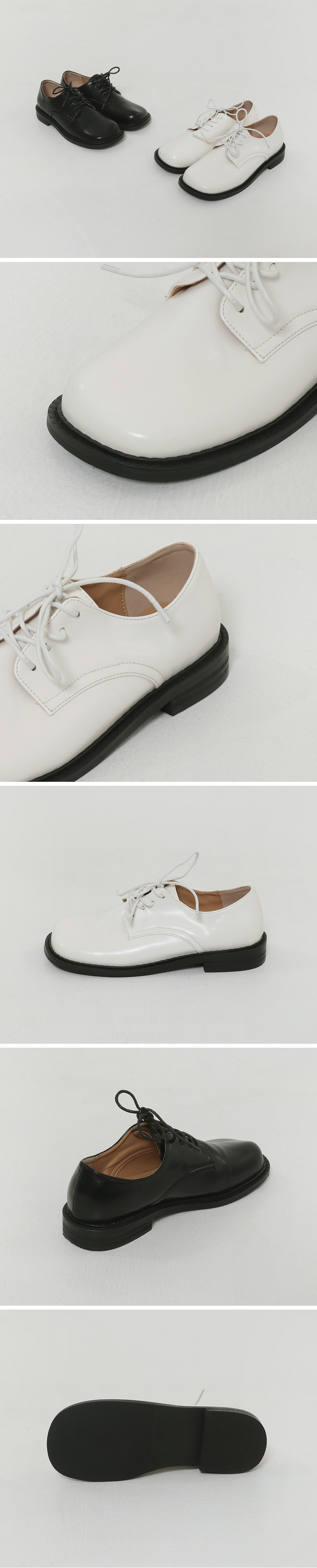 Solid square flat loafers