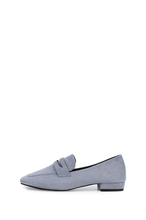 Paris suede middle heel loafers