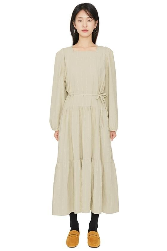 And square-neck maxi dress