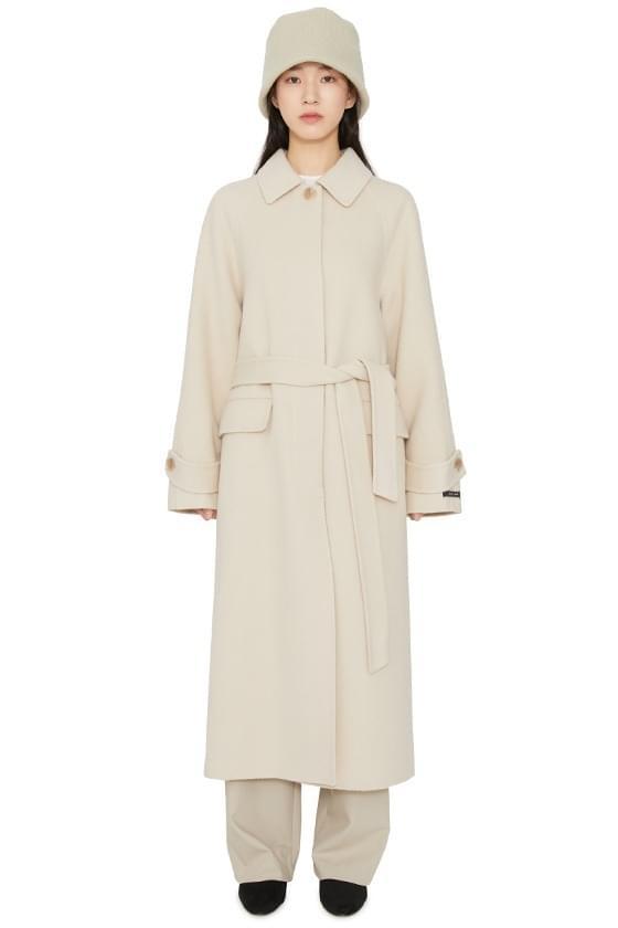 Veil Single Collar Handmade Long Coat