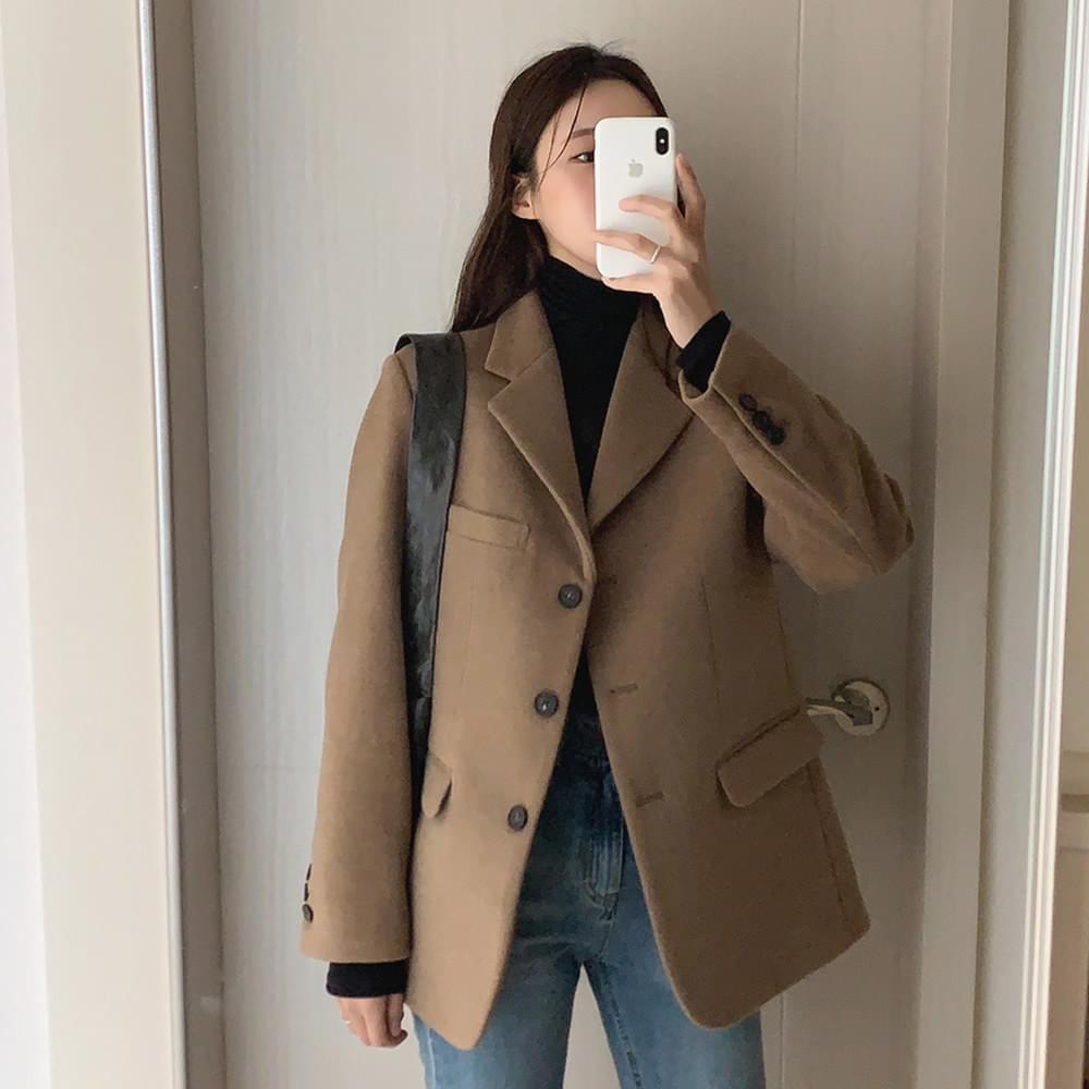 Brand Wool Jacket (人氣商品配送延遲) 夾克外套