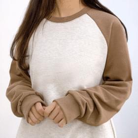 Langyu color matching nagrand sweat shirt 長袖上衣