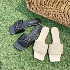 韓國空運 - Square twist slippers 涼鞋
