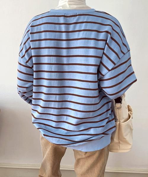 Candy Churee Stripe Sweatshirt