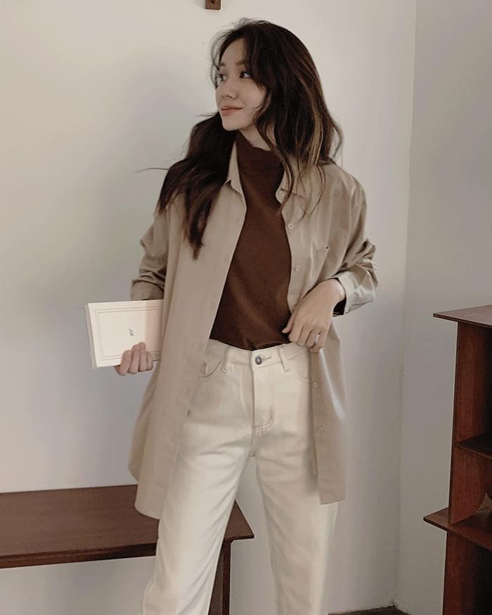 Skid straight-fit denim trousers