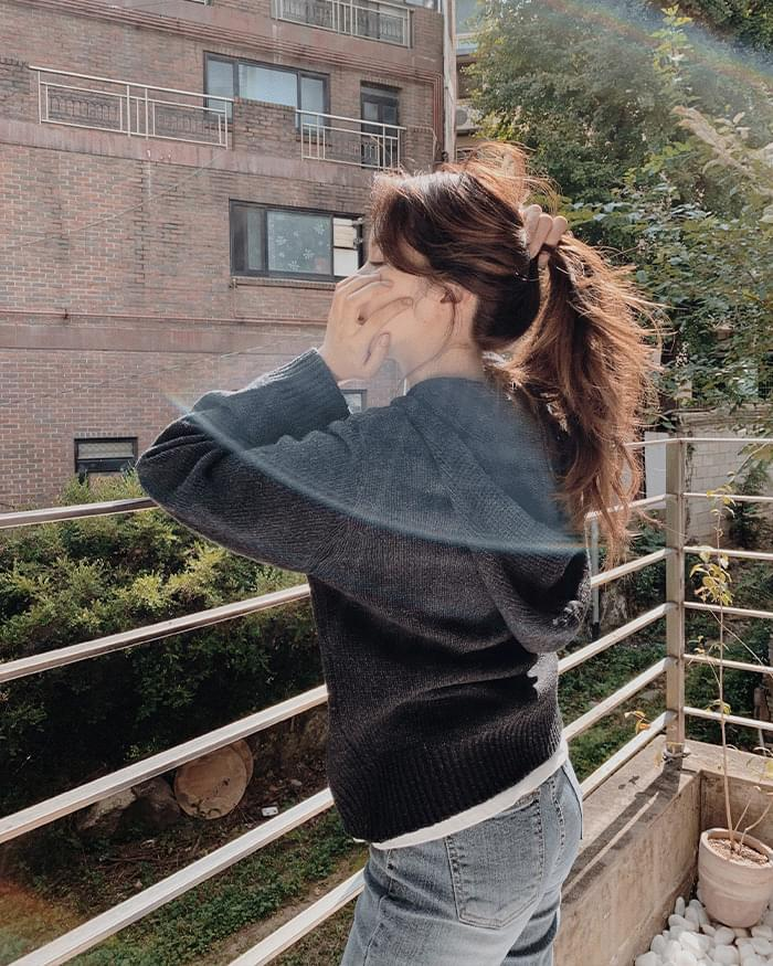 Lienna basic hooded knit cardigan
