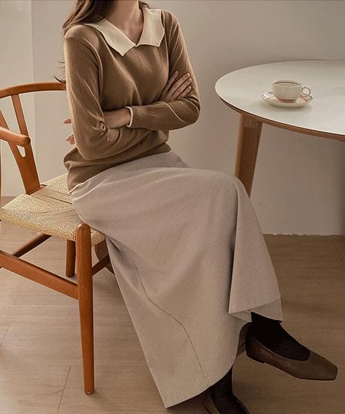 Zanjan Check Long Skirt-3color