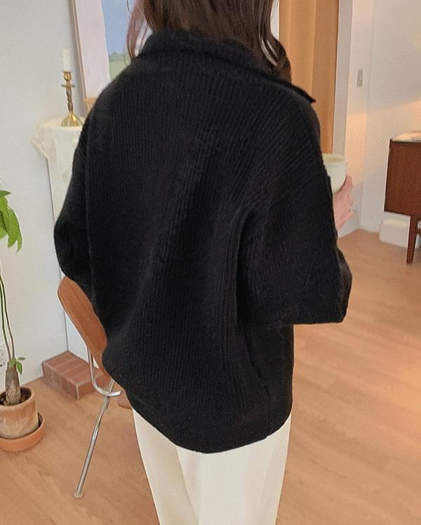 #Any place Rev turtleneck knit cardigan