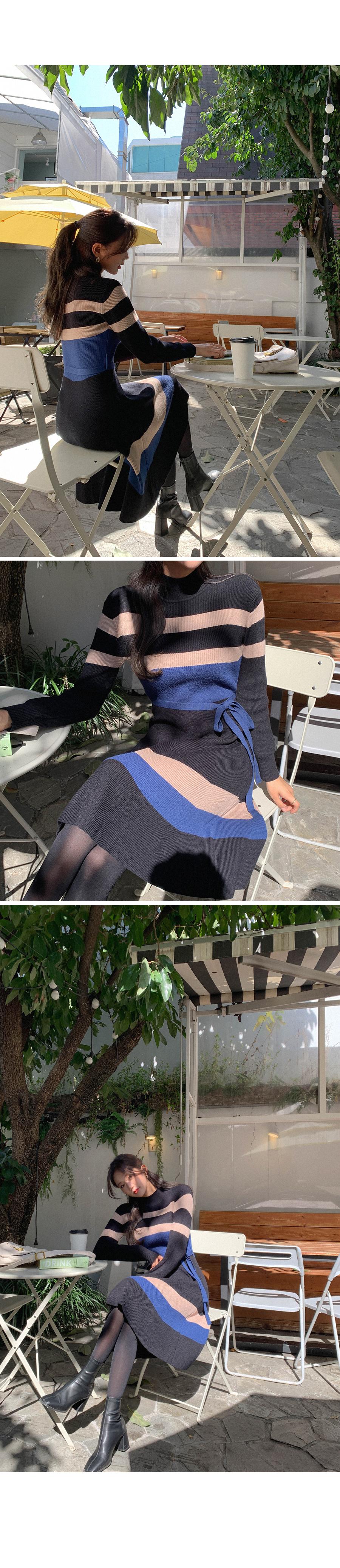 Matching Dangara Flare Knit One Piece