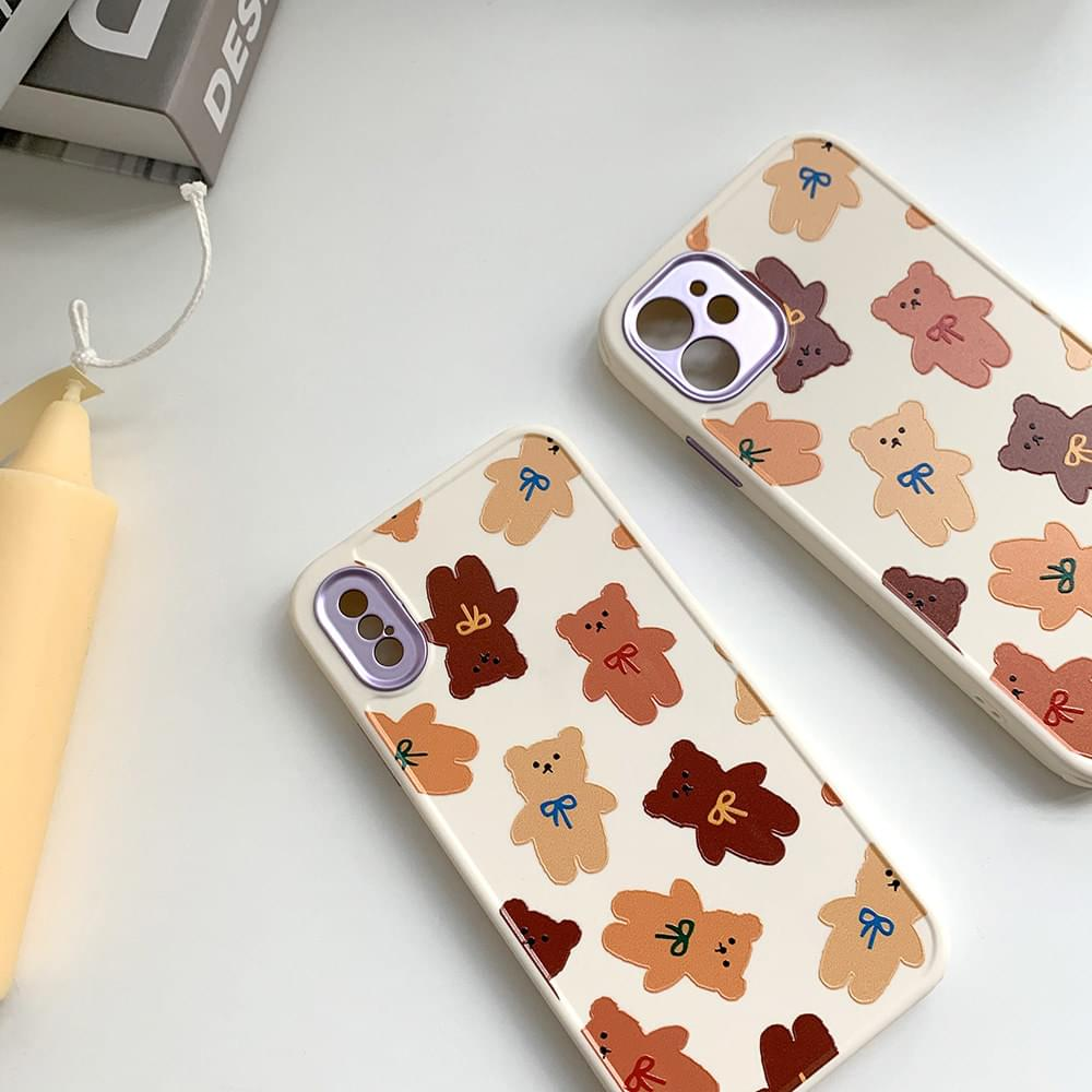 Brown Bear Bear Pattern iPhone Case