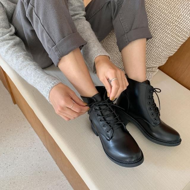 Lace-up Full Heel Middle Walker 5cm