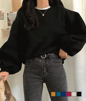 Cappuri balloon brushed sweatshirt 長袖上衣