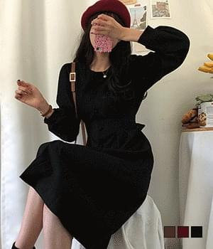 Maromi pintuck back ribbon long dress 洋裝