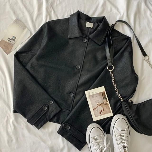 Classic Black Leather Jacket 夾克外套