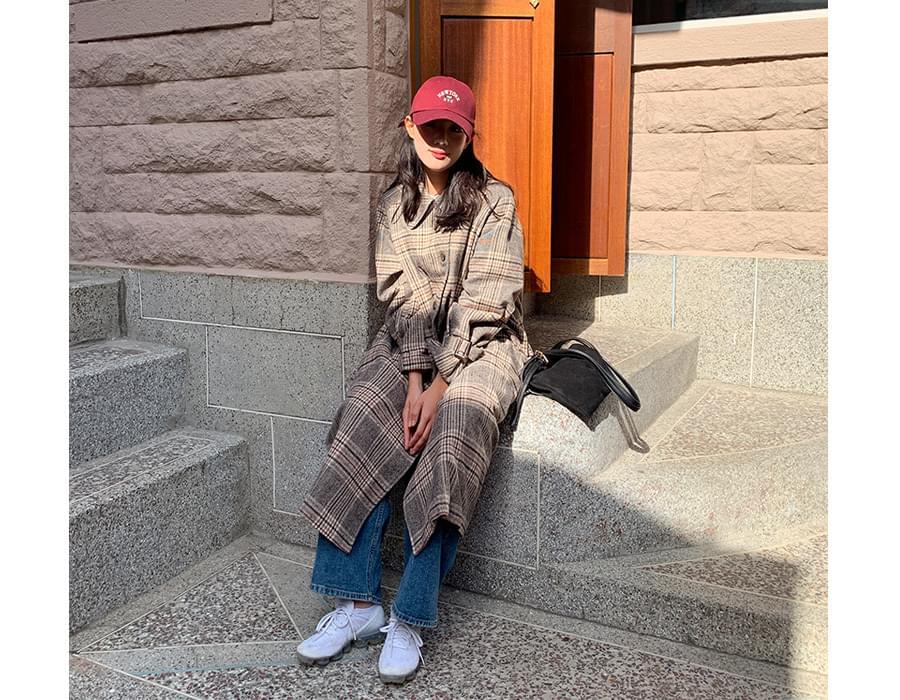 Mondry wool check coat_N (울 30%) (size : free)