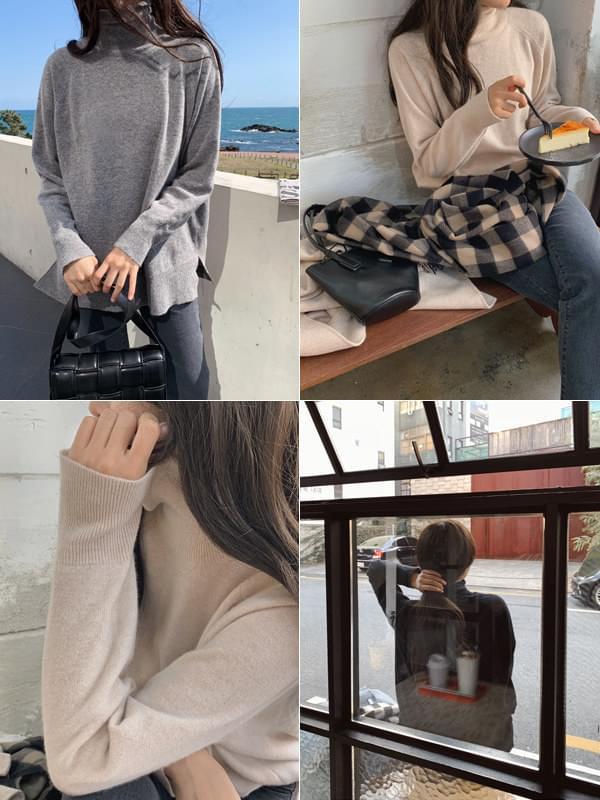 MMMM/ Cashmere Wool Turtle Knit