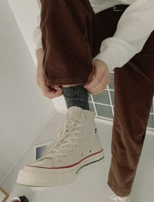 Peter Bokasi wool knit socks