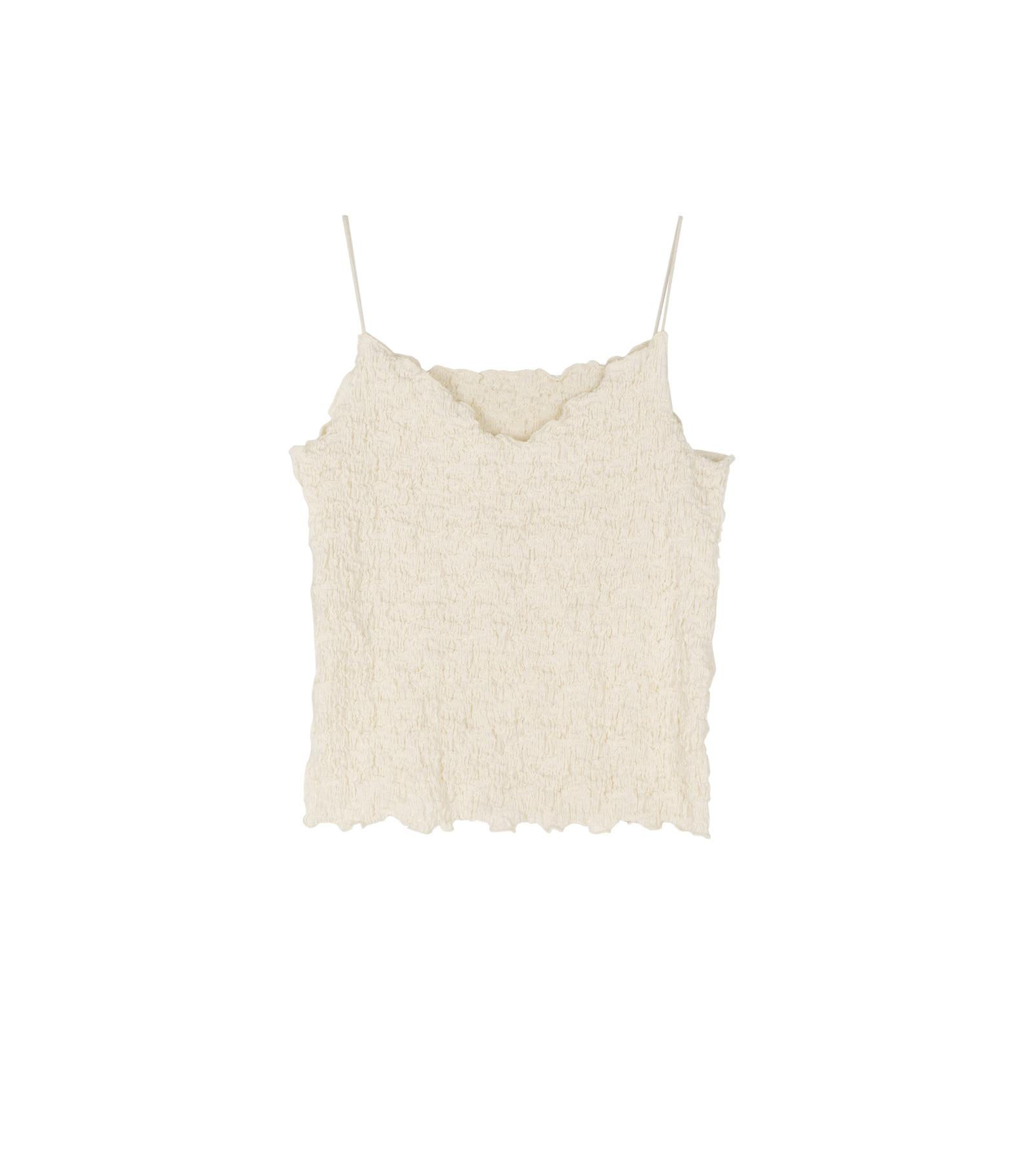 Sand Wrinkle Cardigan Set Top