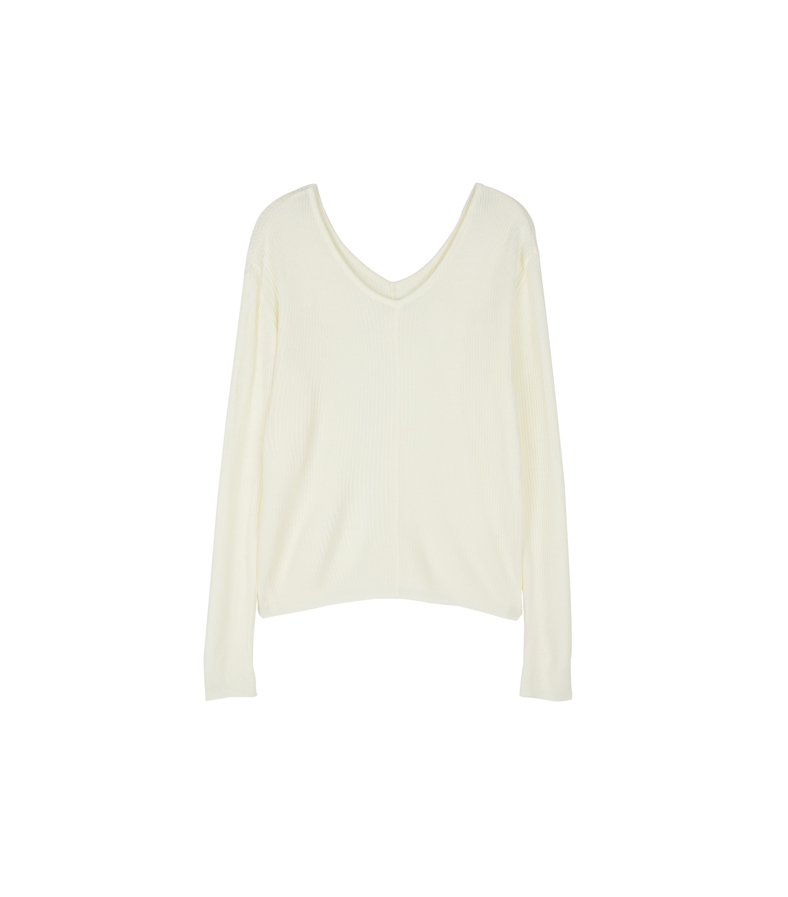 Have ribbed V-neck knit