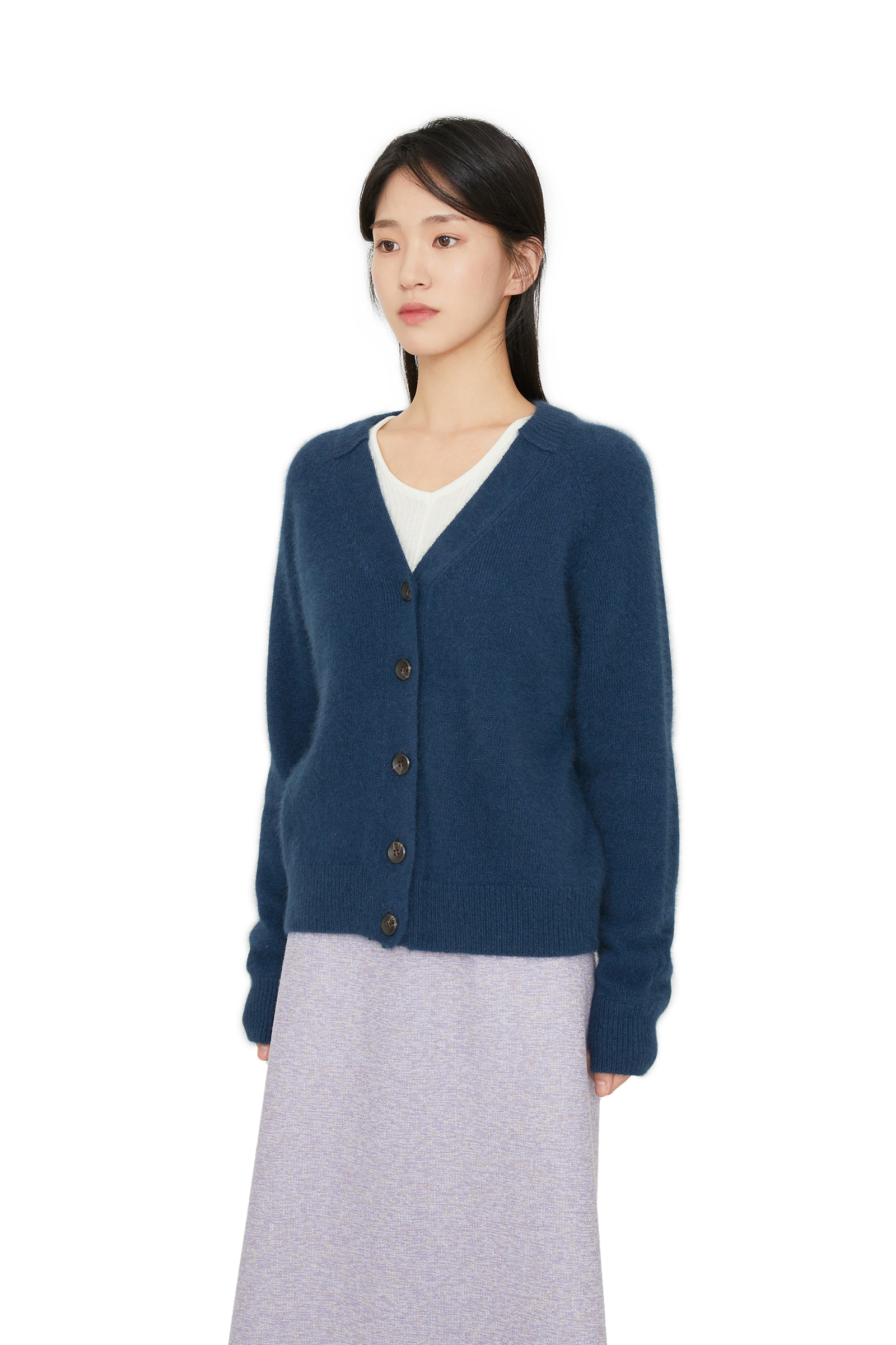 Maring raccoon merino wool cardigan