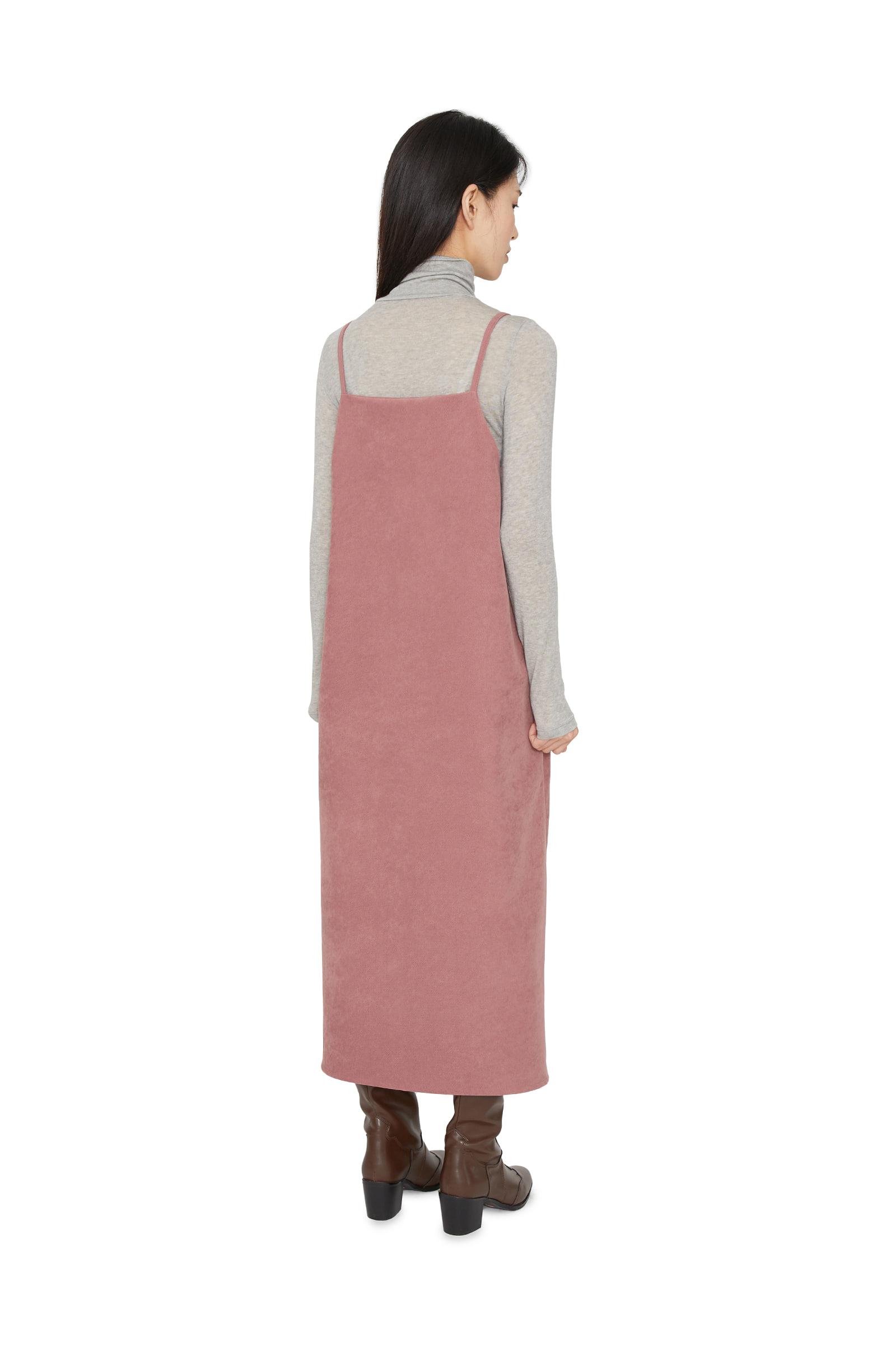 온드 슬리브리스 미디 드레스