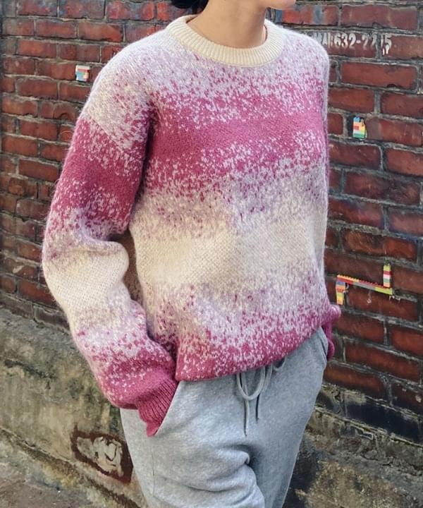 Pastel Print Wool Knit