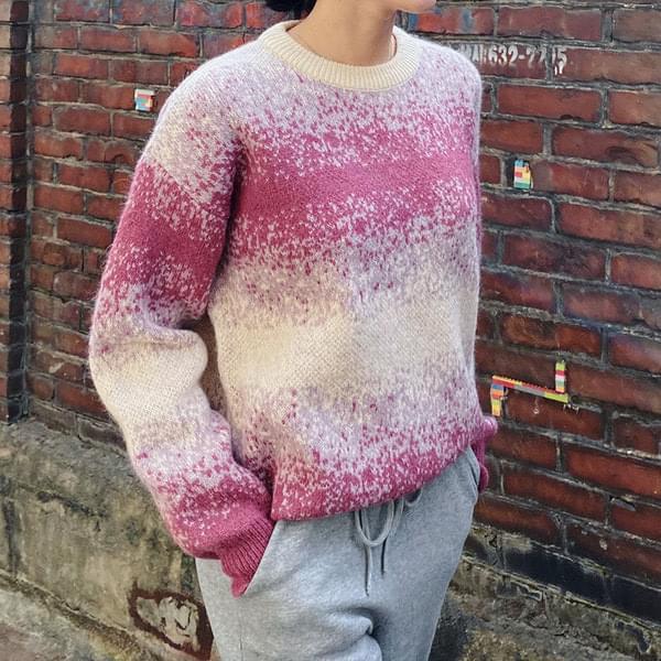 Pastel Print Wool Knit 針織衫