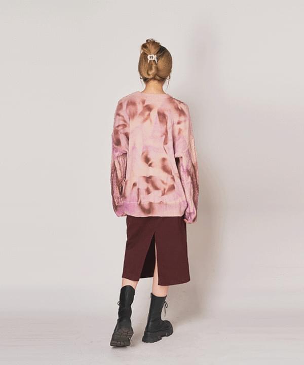 Basic Slit Long Skirt