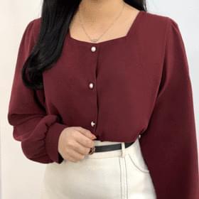 Yeori square-neck blouse